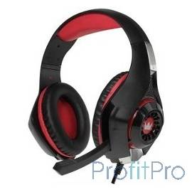 CROWN CMGH-102T Black&red (Подключение USB, встроенная аудио карта, Частотныи? диапазон: 20Гц-20,000 Гц ,Кабель 2.1м,Размер D 2