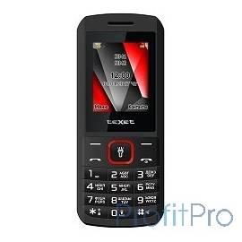 TEXET 127-TM Мобильный телефон цвет черный-красный