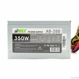 AirMax A8-350W Блок питания 350W ATX (24+4+6пин, 80mm (SCP)\(OVP)\(OCP)\(UVP)\ATX 12V v.2.3)