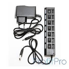 5bites HB27-203PBK Концентратор 7*USB2.0 / БП 5В-2А / 1M / BLACK