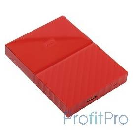 "WD Portable HDD 1Tb My Passport WDBBEX0010BRD-EEUE USB3.0, 2.5"", red"