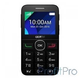 "Alcatel 2008G Full Black [2008G-3EALRU1] 2.4""240x320/MP3/FM/BT/16Мб/0.3 MP/microSD/2 sim"