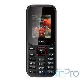 TEXET 128-TM Мобильный телефон цвет черный-красный