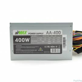 AirMax AA-400W Блок питания 400W ATX (24+4+6пин, 120mm (SCP)\(OVP)\(OCP)\(UVP)\ATX 12V v.2.3)