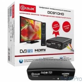 Ресивер DVB-T2 D-Color DC910HD черный