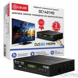 Ресивер DVB-T2 D-Color DC1401HD черный Ali 3812, maxliner 608, RCA, HDMI, USB