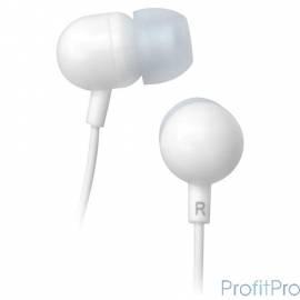 Наушники BBK EP-1160S белый 1.2м белый проводные (в ушной раковине)