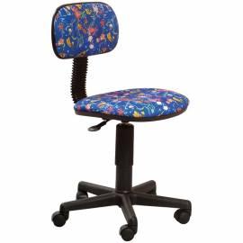 Кресло детское Бюрократ CH-201NX/Aquarium синий, без подлокотников