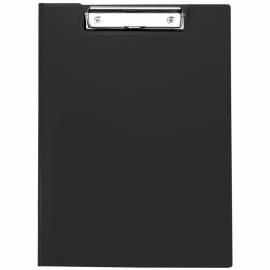 Папка-планшет с зажимом OfficeSpace А4, пластик, черный