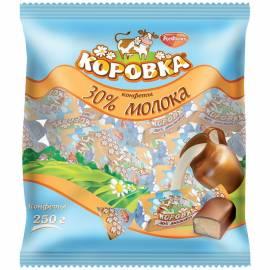 """Шоколадные конфеты РотФронт """"Коровка 30% молока"""", 250г, пакет"""