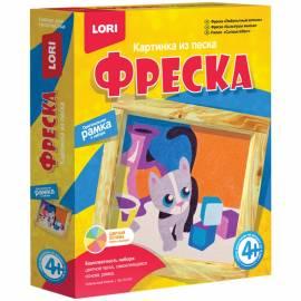 """Фреска-картина из песка Lori """"Любопытный котенок"""", от 4-х лет, картонная коробка"""