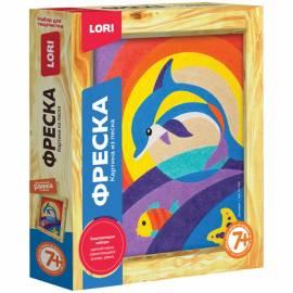 """Фреска-картина из песка Lori """"Дельфин"""", от 7-ми лет, картонная коробка"""