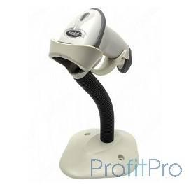 Zebra LS2208 [LS2208-SR20001R-UR] белый ручной лазерный сканер штрих-кода, USB, CBA-U01-S07ZAR cable, 20-61019-01R Stand