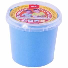 """Песок для лепки Lori """"Домашняя песочница"""", голубой, 500г"""