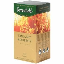 """Чай Greenfield """"Creamy Rooibos"""", травяной аром. апельсин,ваниль с добав. ройбош, 25 пакетиков по 1,5"""