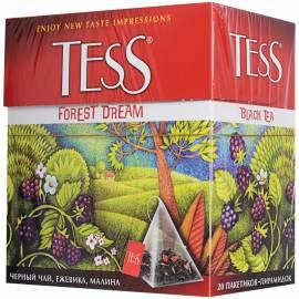 """Чай Tess """"Forest Dream"""", черный, лесные ягоды, 20 пакетиков-пирамидок по 1,8г."""
