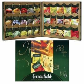 Подарочный набор чая Greenfield, 30 видов, 120 фольг. пакетиков, в картонной коробке