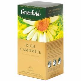 "Чай Greenfield ""Rich Camomile"", травяной, 25 фольг. пакетиков по 1,5г."