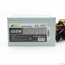 AirMax AA-450W Блок питания 450W ATX (24+4+6пин, 120mm (SCP)\(OVP)\(OCP)\(UVP)\ATX 12V v.2.3)