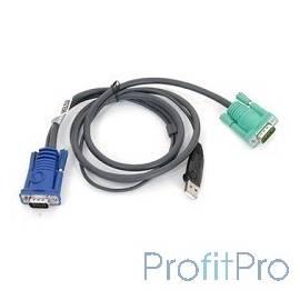 ATEN 2L-5202U Кабель KVM USB(тип А Male)+HDB15(Male) - SPHD15(Male) 1,8м., черный.