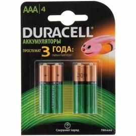Аккумулятор HR03 Duracell 750mAh 4BL
