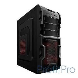 3Cott 1816 ATX w/o PSU USB 2.0, 2х 12см, Black