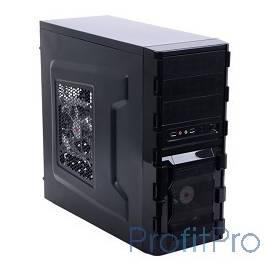 3Cott 1811 ATX w/o PSU, окно USB 3.0( с доп.коннектором USB 2.0), 2х 12см LED новые красные вент-ры, Black