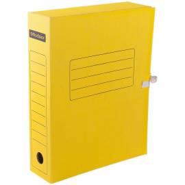 Папка архивная из микрогофрокартона OfficeSpace с завязками, ширина корешка 75мм, желтый