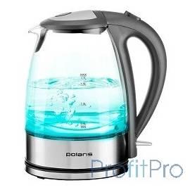 Чайник Polaris PWK 1719CGL 1.7л. 2200Вт серебристый/серый (стекло)