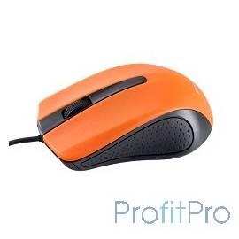 Perfeo мышь оптическая, 3 кн, USB, 1,8м, чёрн-оранж [PF-353-OP-OR]