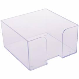 Бокс для бумажного блока Стамм, 9*9*5, прозрачный