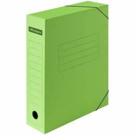 Папка архивная из микрогофрокартона OfficeSpace на резинках, ширина корешка 75мм, зеленый