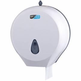 Диспенсер для туалетной бумаги в рулонах BXG, пластик ABS, механический, белый