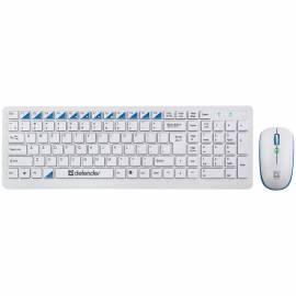 """Комплект клавиатура + мышь беспроводной Defender """"Skyline 895"""", белый"""
