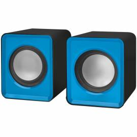 Колонки Defender SPK 22, 2*2,5W, питание от USB, синий