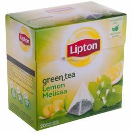 """Чай Lipton """"Green Lemon Melissa"""", зеленый, 20 пакетиков-пирамидок по 1,6г"""