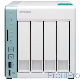 QNAP D4 Pro Сетевое хранилище, 4 Hot-Swap tray w/o HDD, Celeron N3060 dual-core 1,6GHz-2,48GHz, 1GB DDR3L (1x1GB up to 8GB), HD