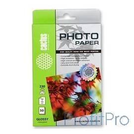 CACTUS GA623050 Фотобумага Cactus CS-GA623050 глянцевая, 10x15, 230 г/м2, 50 листов