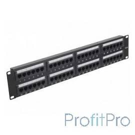 Gembird Коммутационная панель Cablexpert с задним организатором, 48 портов категории 5E, размер 19&apos&apos( NPP-C548CM-001)