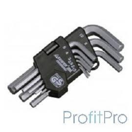 """Набор STAYER Ключи """"MASTER"""" имбусовые короткие, Cr-V, сатинированное покрытие, пластик. держатель, HEX 1,5-10мм, 9 пред [2740-H"""