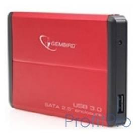 "Gembird EE2-U3S-2-R Внешний корпус 2.5"" Gembird EE2-U3S-2 , красный, USB 3.0, SATA"