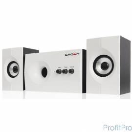 Акустическая система 2.1 CROWN CMS-350 ( Белая лицевая панель МДФ, 15W+10WX 235W,Длина кабеля питания и аудио кабеля 2м,Управле