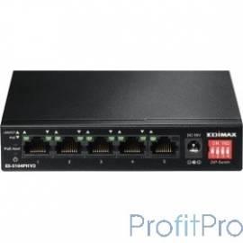EDIMAX ES-5104PH V2 Неуправляемый коммутатор, 5 портов, Ethernet PoE+, 4/5p 10/100, 60W