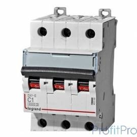 Legrand 407863 Автоматический выключатель DX 6000 - 10 кА - тип характеристики C - 3П - 400 В~ - 40 А - 3 модуля
