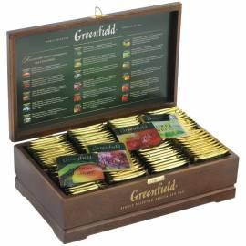Подарочный набор чая Greenfield, 8 видов по 12 фольг. пакетиков, в деревянной шкатулке