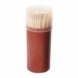 Зубочистки деревянные Артпласт, пластиковый бочонок, 80-100шт.