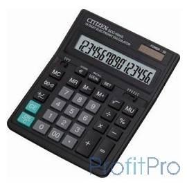 Citizen SDC-664S черный, Калькулятор настольный, 16 разрядный с двойным питанием