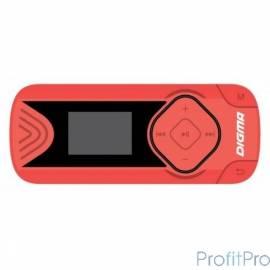 "487377 Плеер Flash Digma R3 8Gb красный/0.8""/FM/microSDHC/clip"