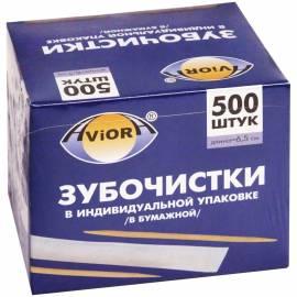 Зубочистки бамбуковые Aviora, 500шт., в индивидуальной упаковке