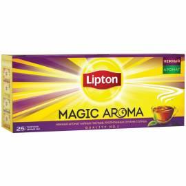"""Чай Lipton """"Magic Aroma"""", черный, 25 пакетиков по 2г"""